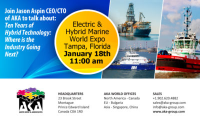 Aspin Kemp & Associates (AKA) at the Electric & Hybrid Marine World Expo