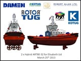 Aspin Kemp & Associates (AKA) Partners with KOTUG International to Deliver Two Hybrid Advanced Rotor®tugs